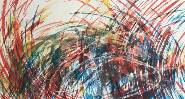 Rosie Wylie - Artist in Residence at Courtyard Arts Gallery Hertford