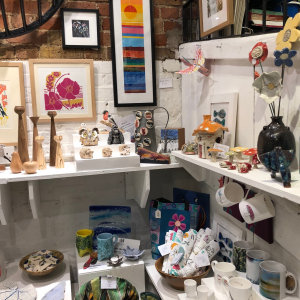 View of the gift shop at courtyard arts.