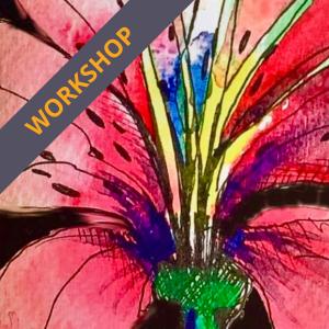 Drawing flowers workshop