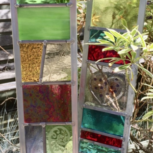 Stained Glass Garden Panel