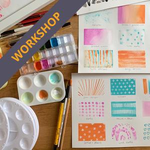 Childrens watercolour techniques workshop