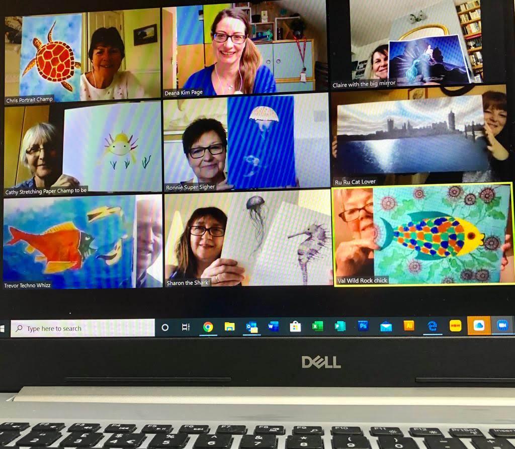 Deans Art Class on Zoom