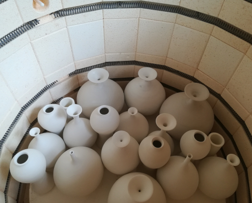 Ceramic pots created by tutor Nick Howard